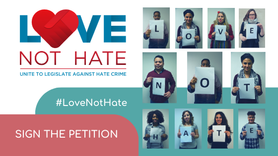 Love Not Hate Sign the petition